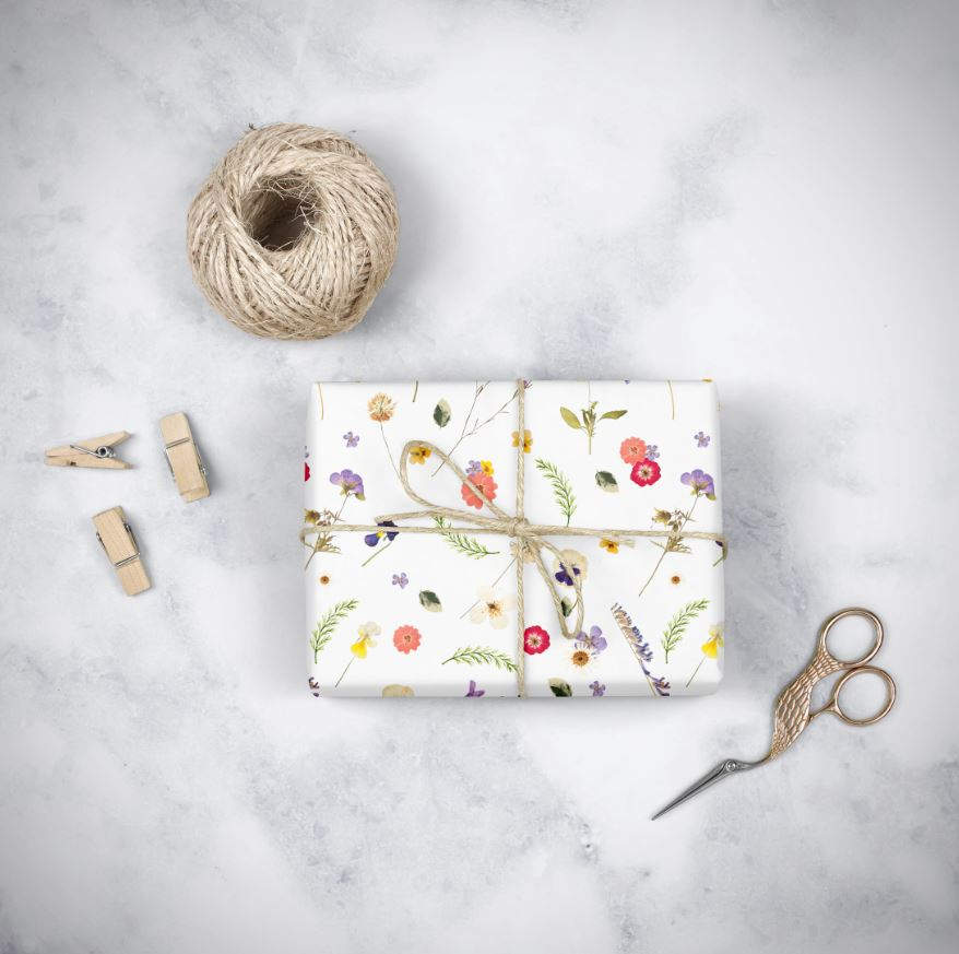 Pressed Flowers Wrapping Paper
