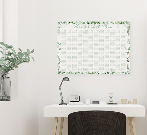 2021 Botanical Greenery Landscape Wall Planner