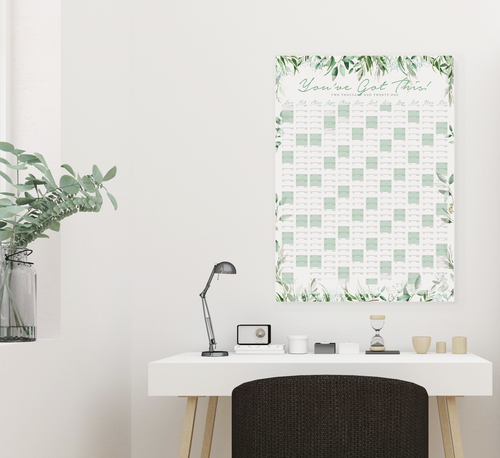 2021 Botanical Greenery Portrait Wall Planner