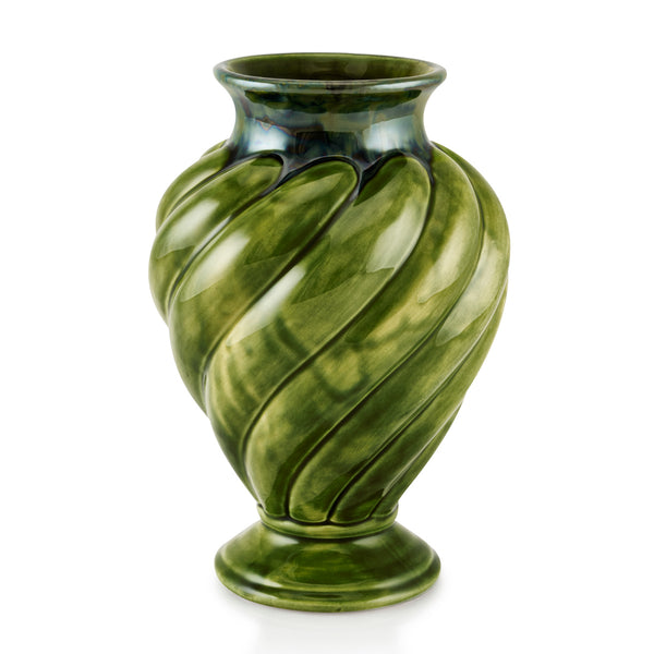 vaso in ceramica color verde