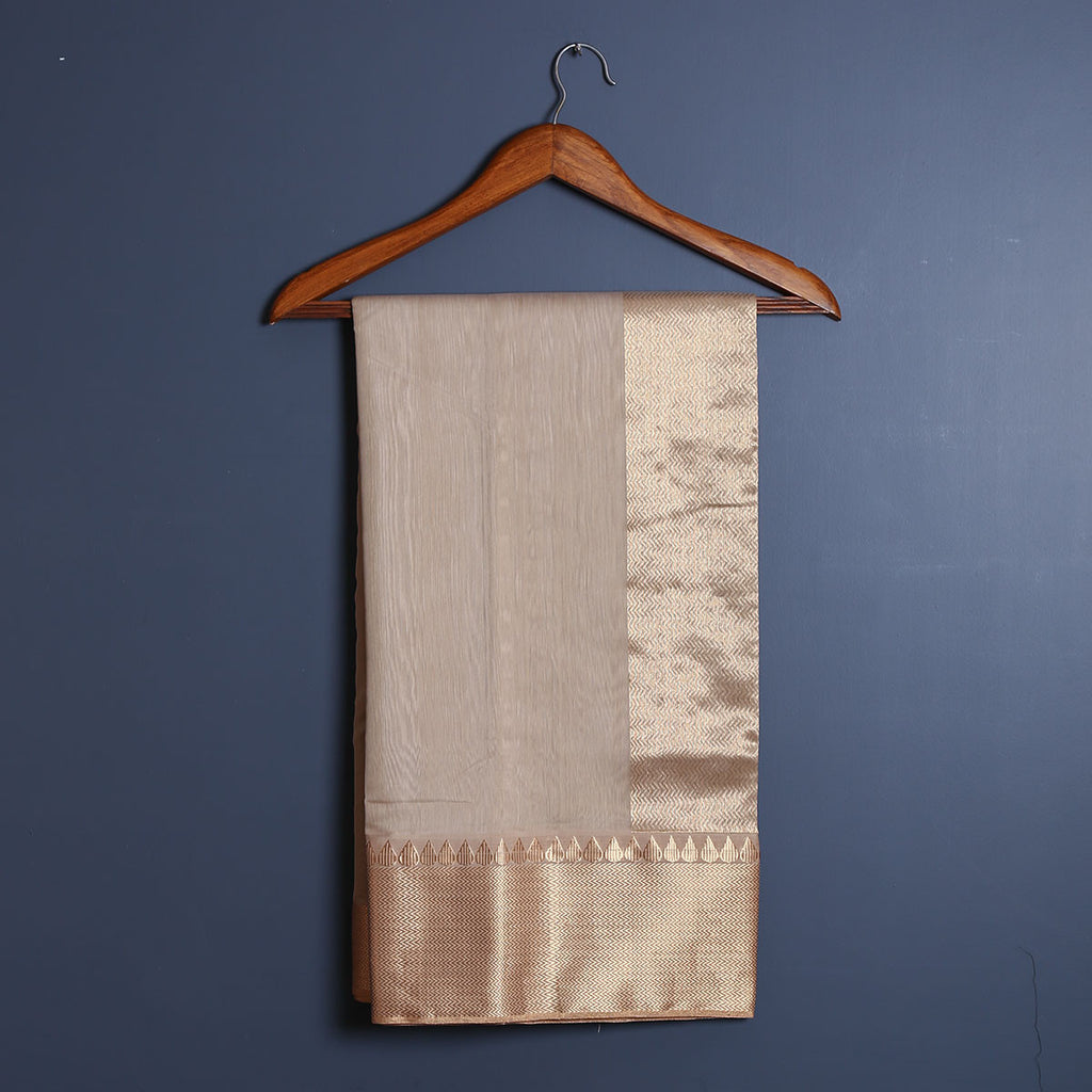 Chanderi Handloom Saree with Blouse in Silk Cotton 33