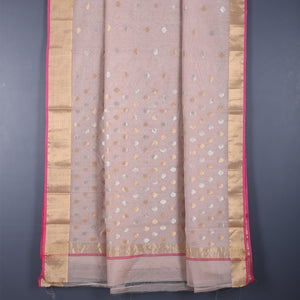 Chanderi Handloom Saree with Blouse in Silk Cotton 74