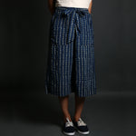 Indigo Coloured Polka Dots Ajrakh Hand Block Printed Culottes