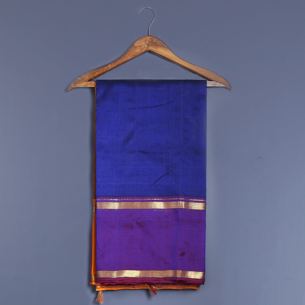 Kanjeevaram Handloom Cotton Silk Saree with Blouse 7