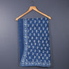 Dabu Hand Block Printed Indigo Cotton Saree with Blouse 1