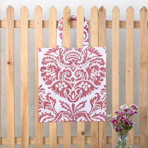Hand Block Printed Naturally Dyed Organic Cotton Bag 20