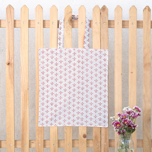 Hand Block Printed Naturally Dyed Organic Cotton Bag 2