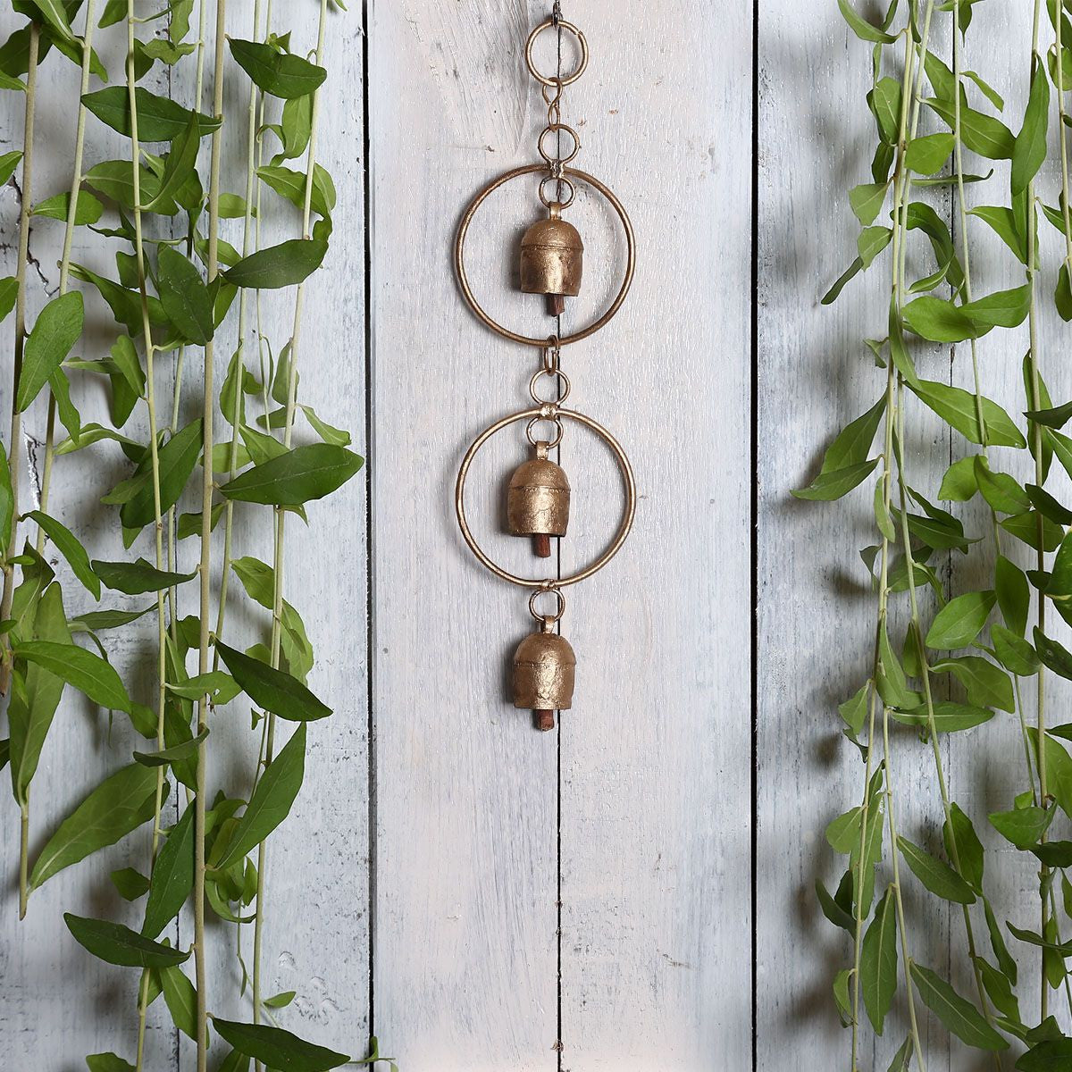 Kutch Metal Bell Wind Chimes - 3 Bell Circle Design