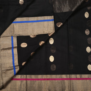 Chanderi Handloom Saree with Blouse in Silk Cotton 80