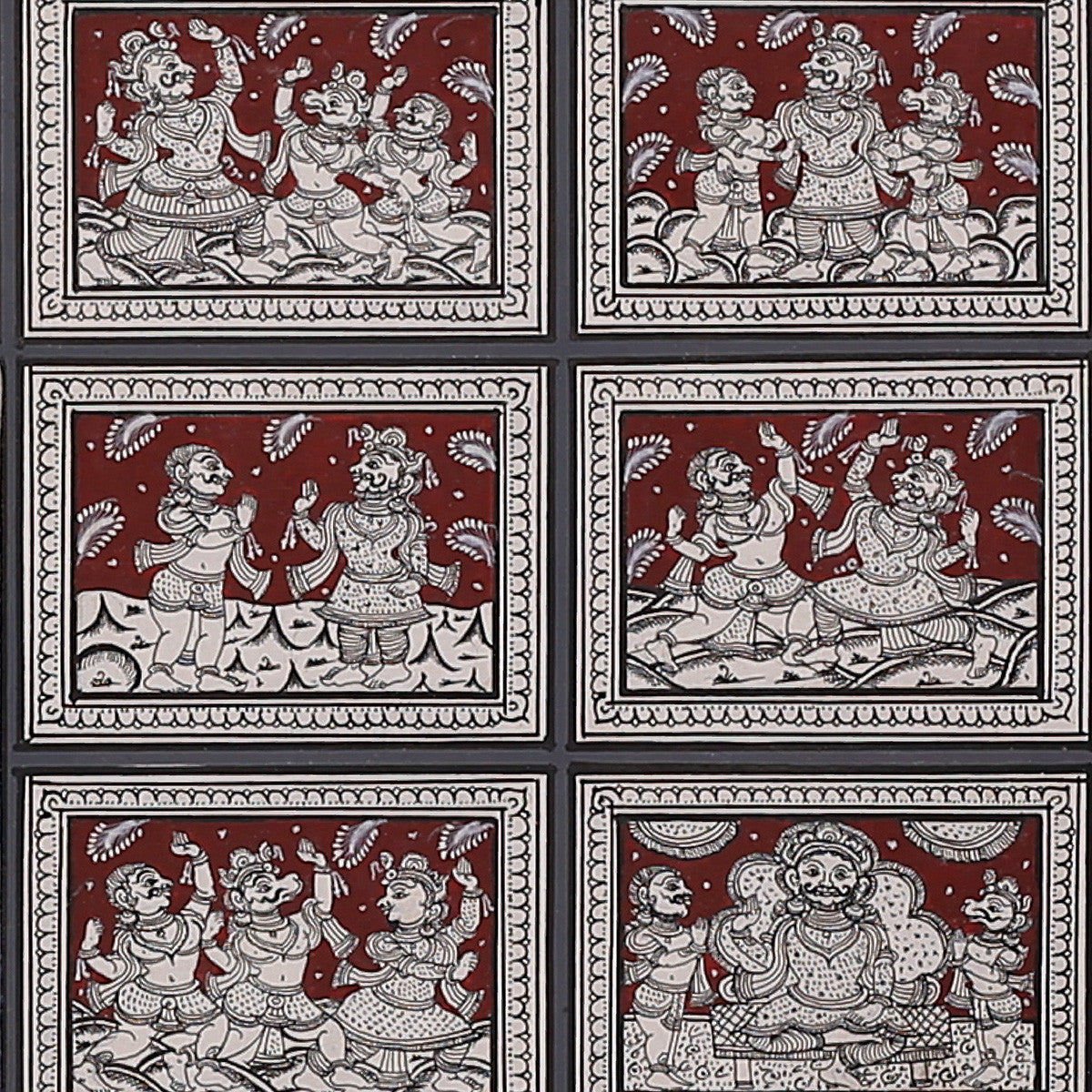 Pattachitra Painting of 'Goddess Durga Story' by Narayan Das