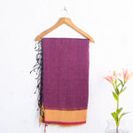 Phulia Handloom Saree with Blouse in Linen 4