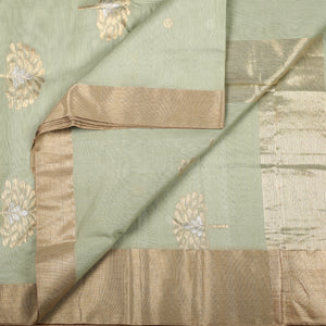 Chanderi Handloom Saree with Blouse in Silk Cotton 65