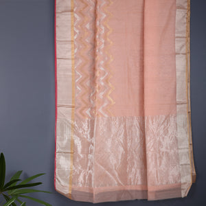 Chanderi Handloom Saree with Blouse in Silk Cotton 83