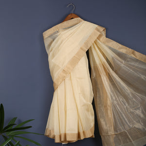 Chanderi Handloom Saree with Blouse in Silk Cotton 3