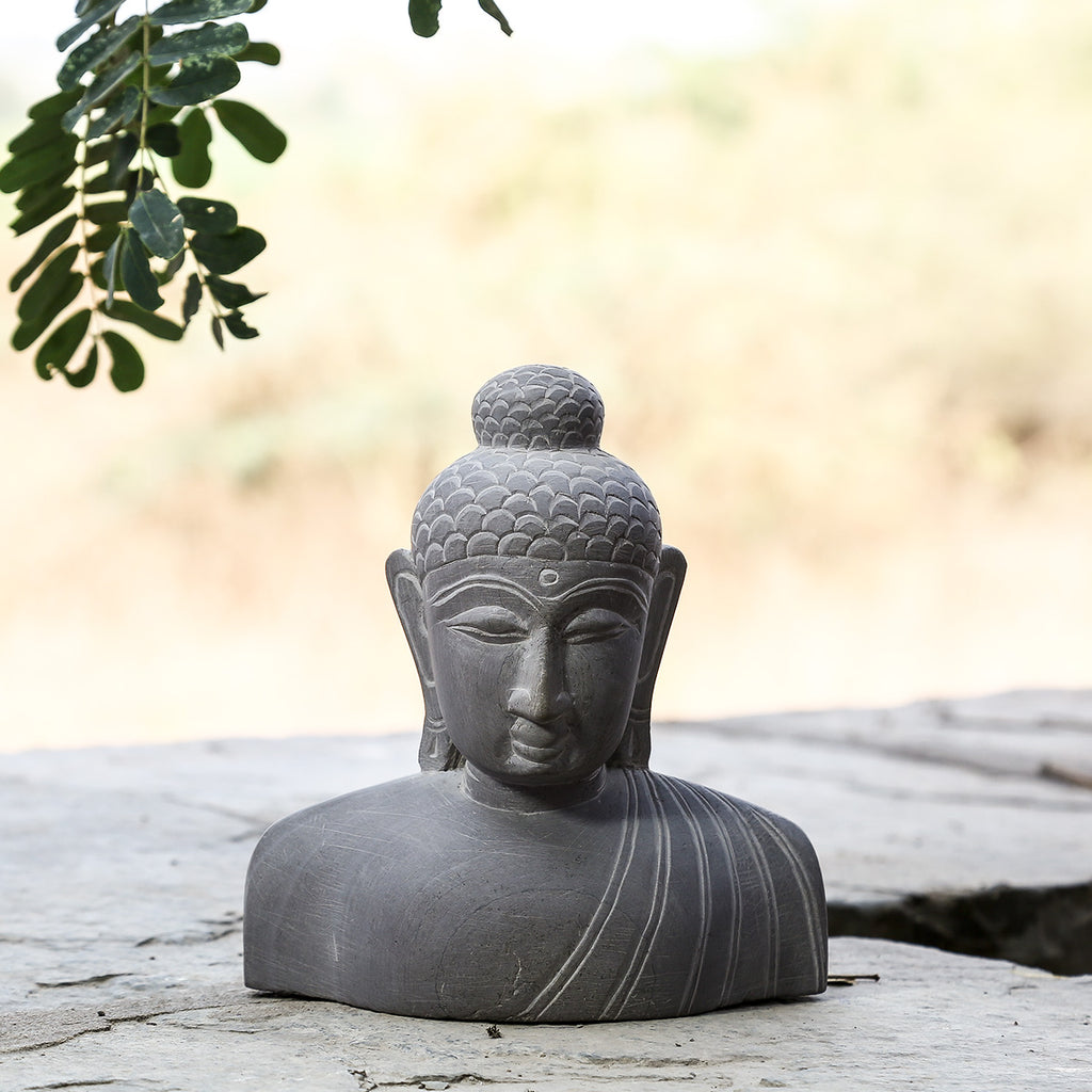 Lord Buddha 1 - Hand Carved Stone Idol from Durgi