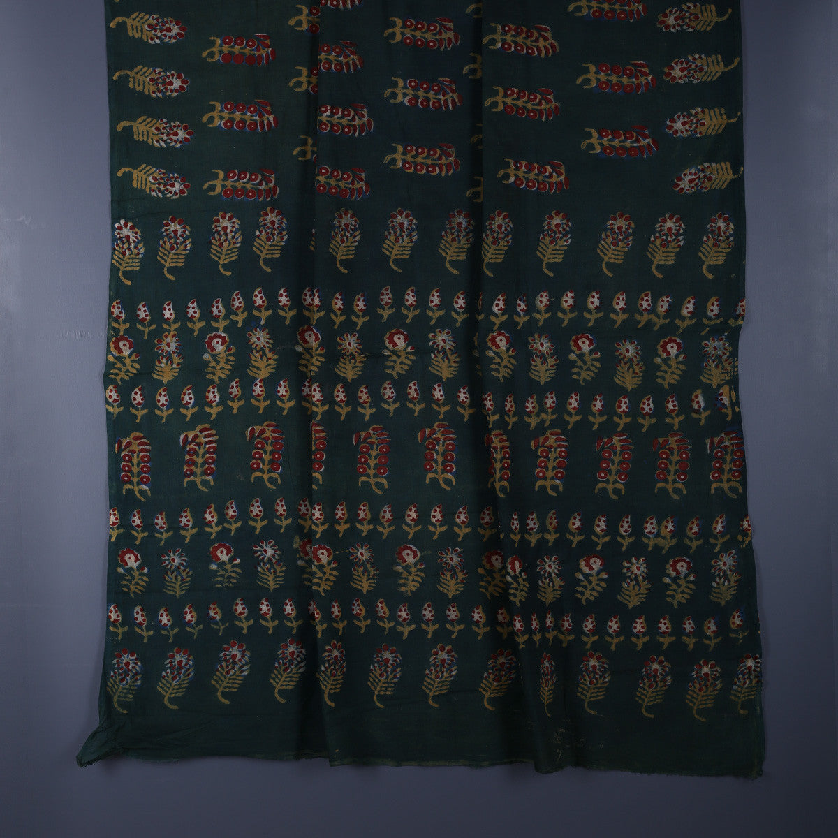 Nandna Hand Block Printed Cotton Saree with Blouse 1