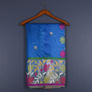 Chanderi Handloom Saree with Blouse in Silk 1