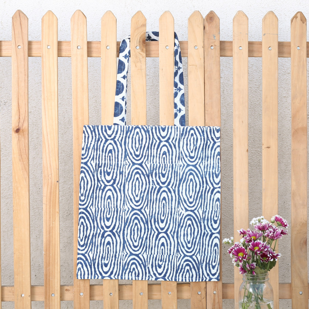 Hand Block Printed Naturally Dyed Organic Cotton Bag 8