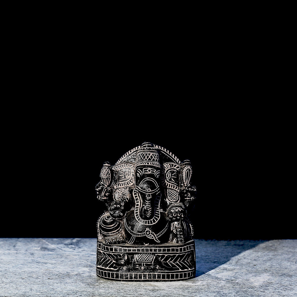 Lord Ganesha 2 - Hand Carved Stone Idol from Durgi