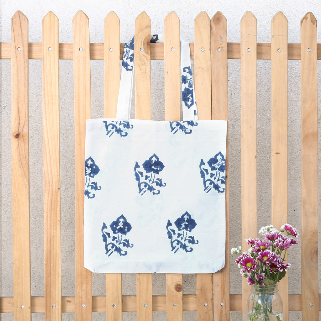 Hand Block Printed Naturally Dyed Organic Cotton Bag 9