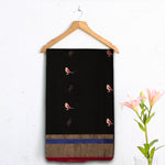 Chanderi Handloom Saree with Blouse in Silk Cotton 11