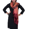 Maroon Coloured Jaipur Tie & Dye Dupatta in Tassar Silk