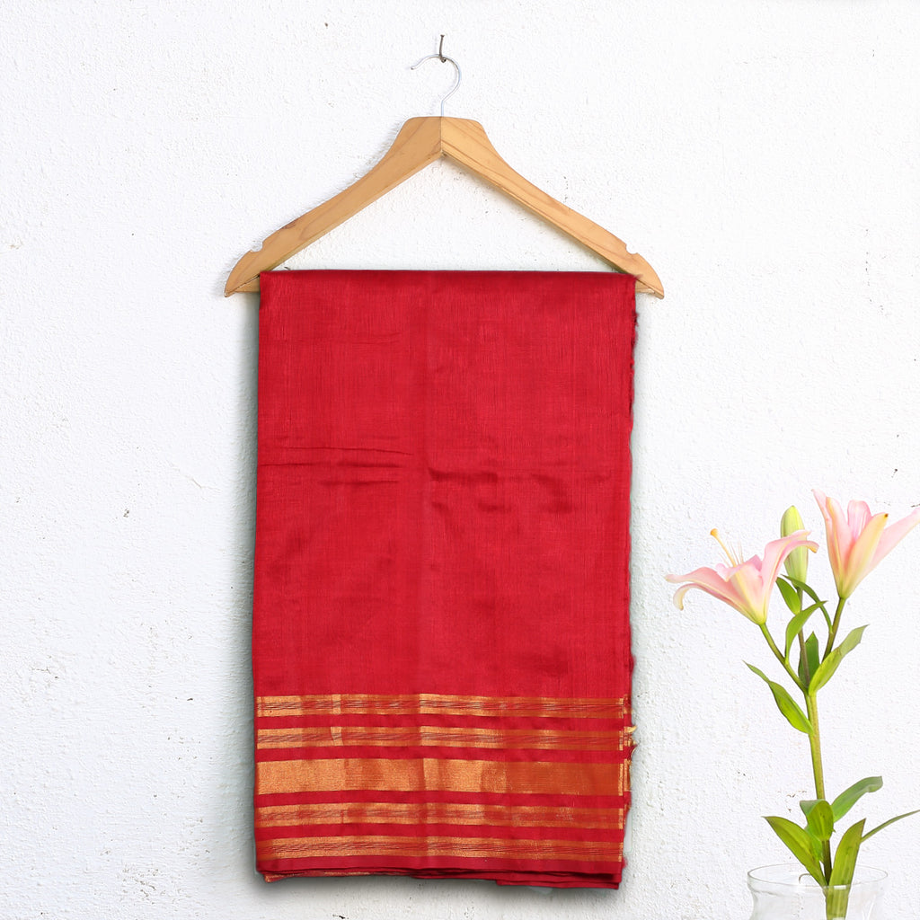 Kanjeevaram Handloom Cotton Silk Saree with Blouse 8