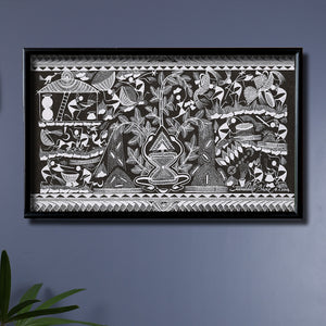 Tribal Warli Painting of Kansari Maata by Sandeep Bhoir