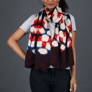 Kutch Tie & Dye Stole in Gajji Silk with Clamp Dye 16