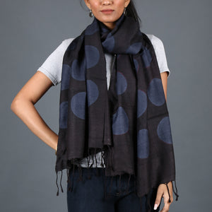 Kutch Tie & Dye Stole in Tussar Silk with Clamp Dye 4