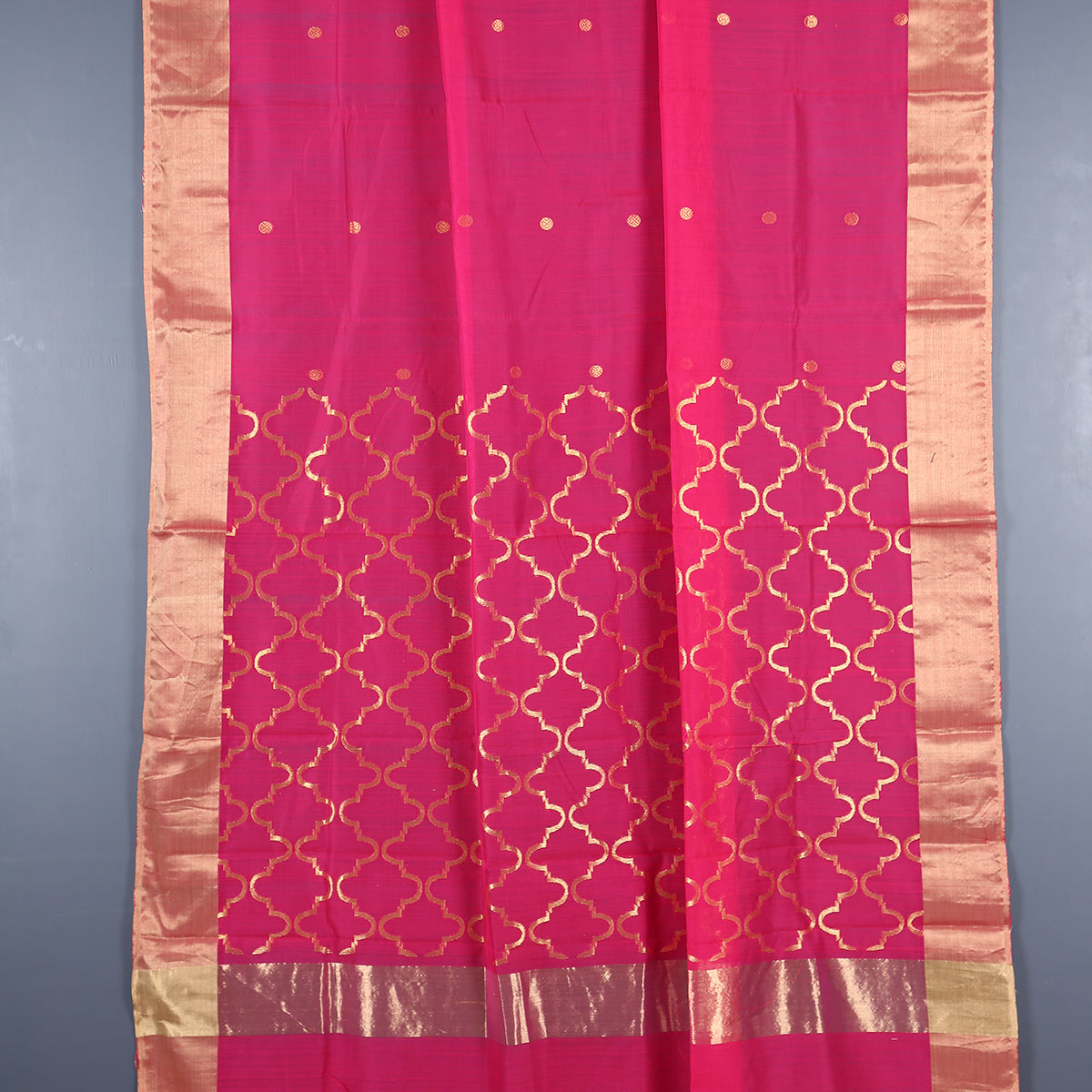 Chanderi Handloom Saree with Blouse in Silk Cotton 58