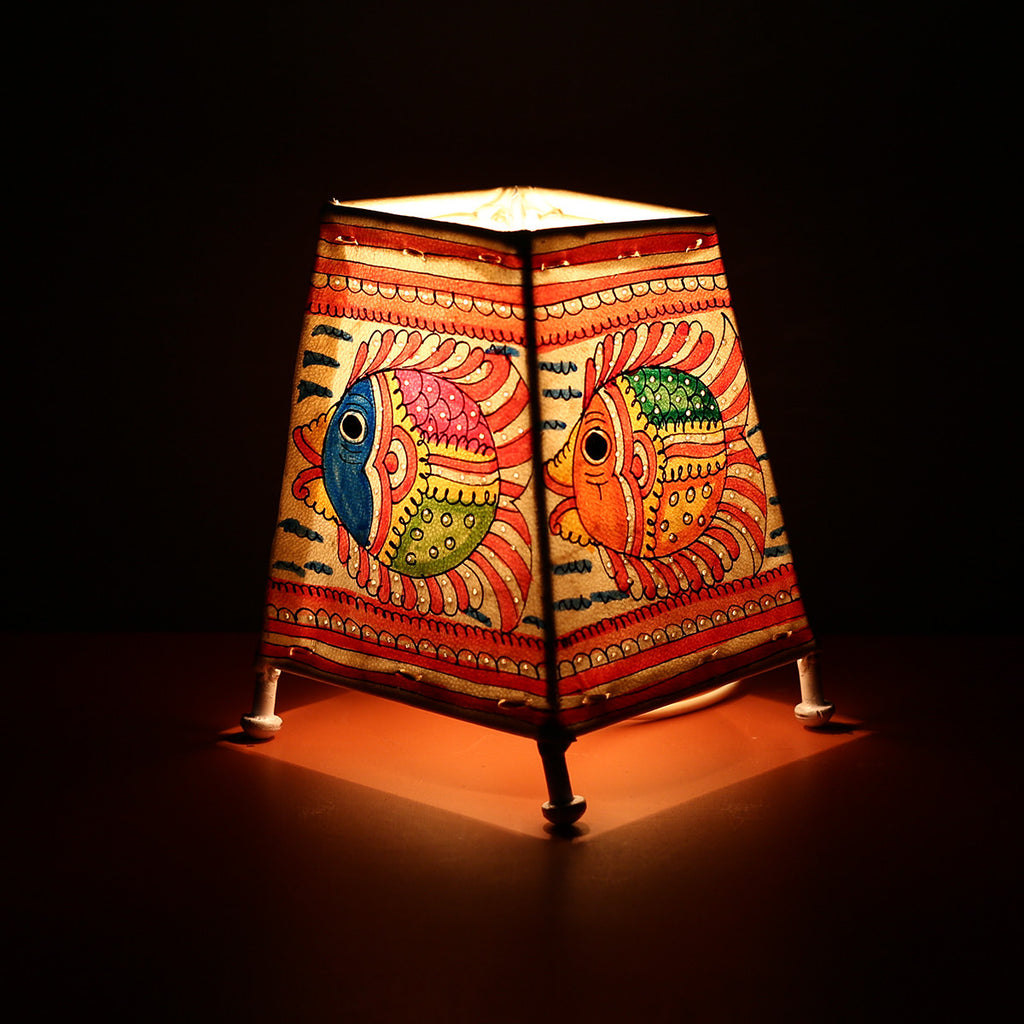 Andhra Pradesh Leather Lamp with Fish Design