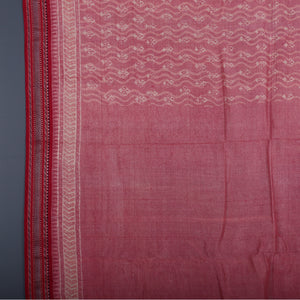 Bagru Hand Block Printed Naturally Dyed Tussar Silk Saree 1