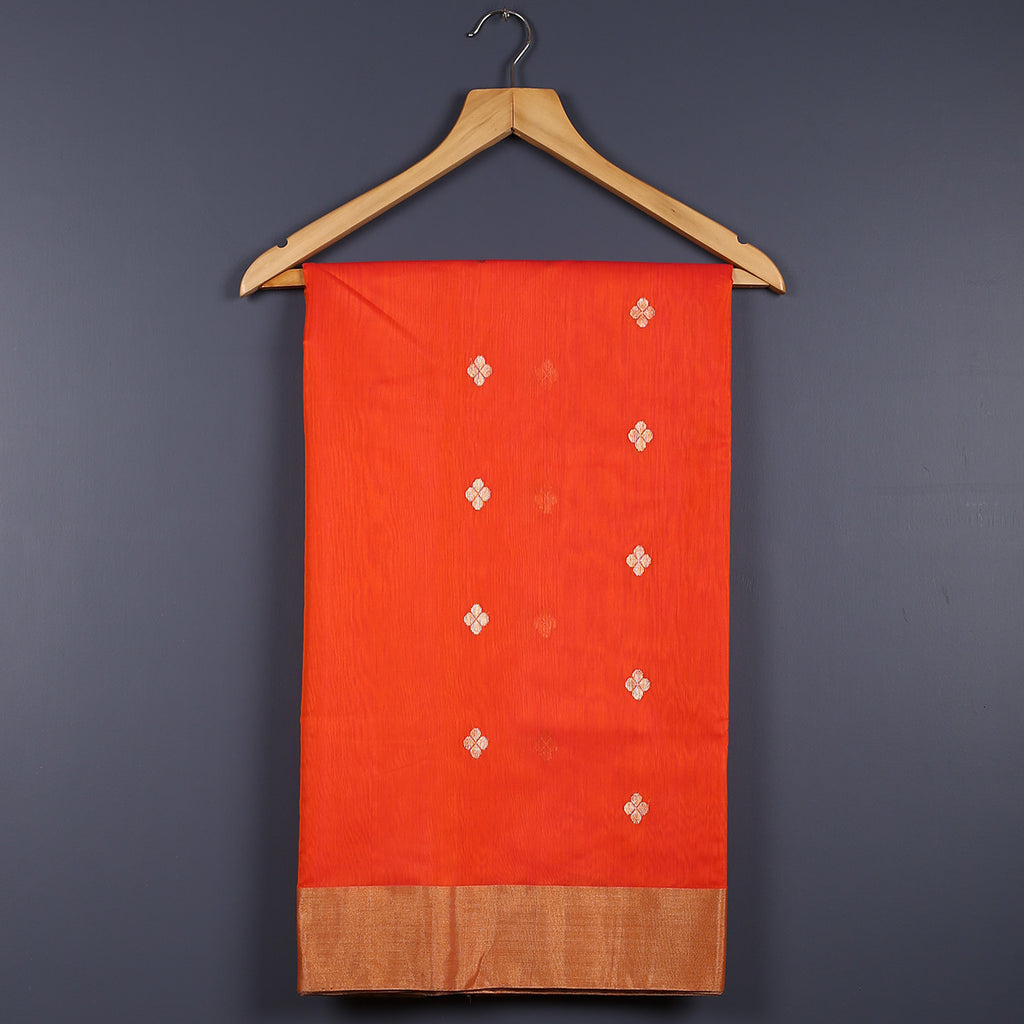 Chanderi Handloom Saree with Blouse in Silk Cotton 17