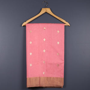 Chanderi Handloom Saree with Blouse in Silk Cotton 19