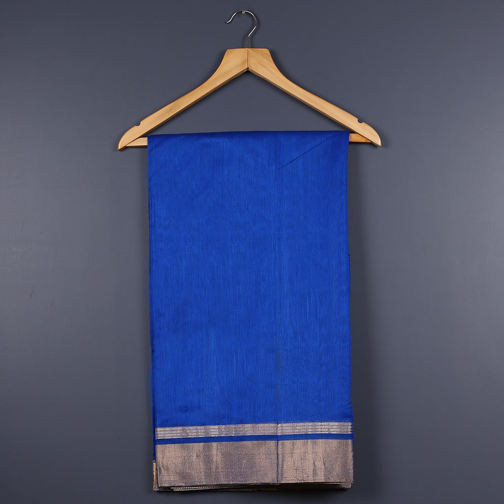 Chanderi Handloom Saree with Blouse in Silk Cotton 22