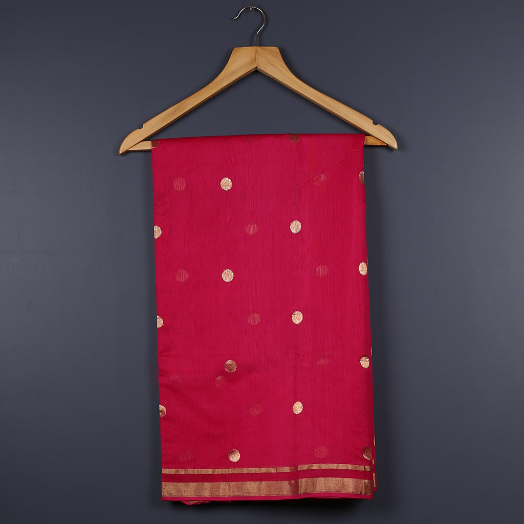 Chanderi Handloom Saree with Blouse in Silk Cotton 30