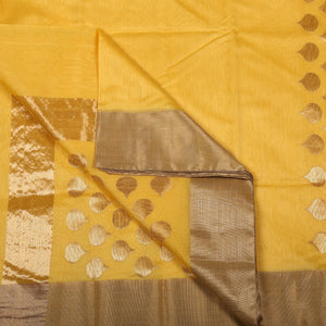 Chanderi Handloom Saree with Blouse in Silk Cotton 26