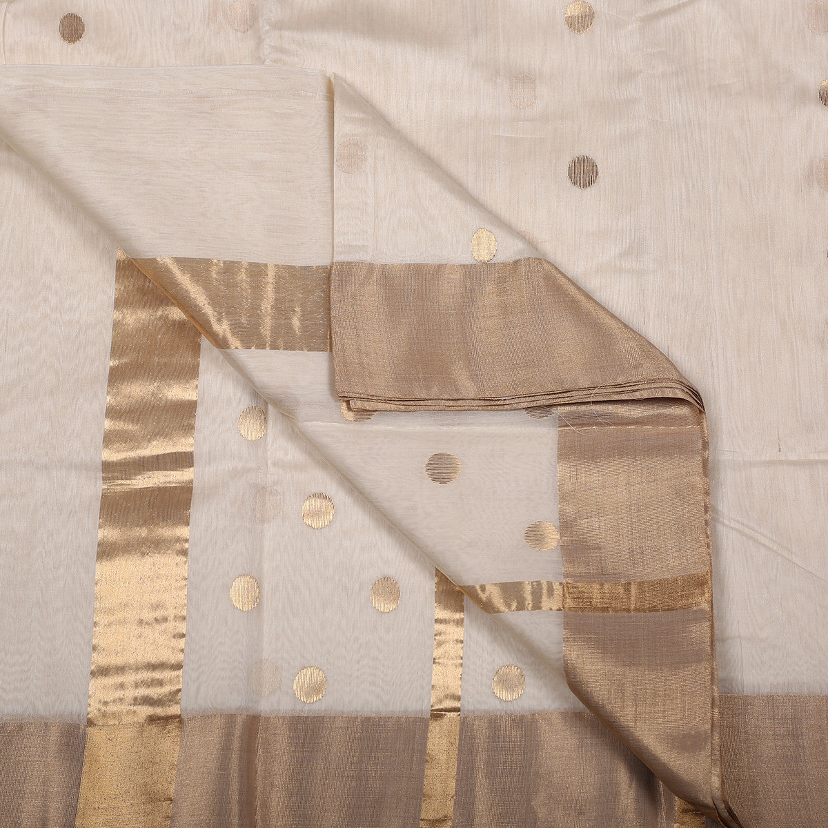 Chanderi Handloom Saree with Blouse in Silk Cotton 24