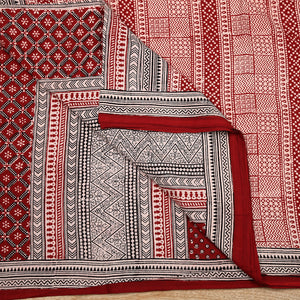 Bagh Hand Block Printed Naturally Dyed Cotton Saree with Blouse 7