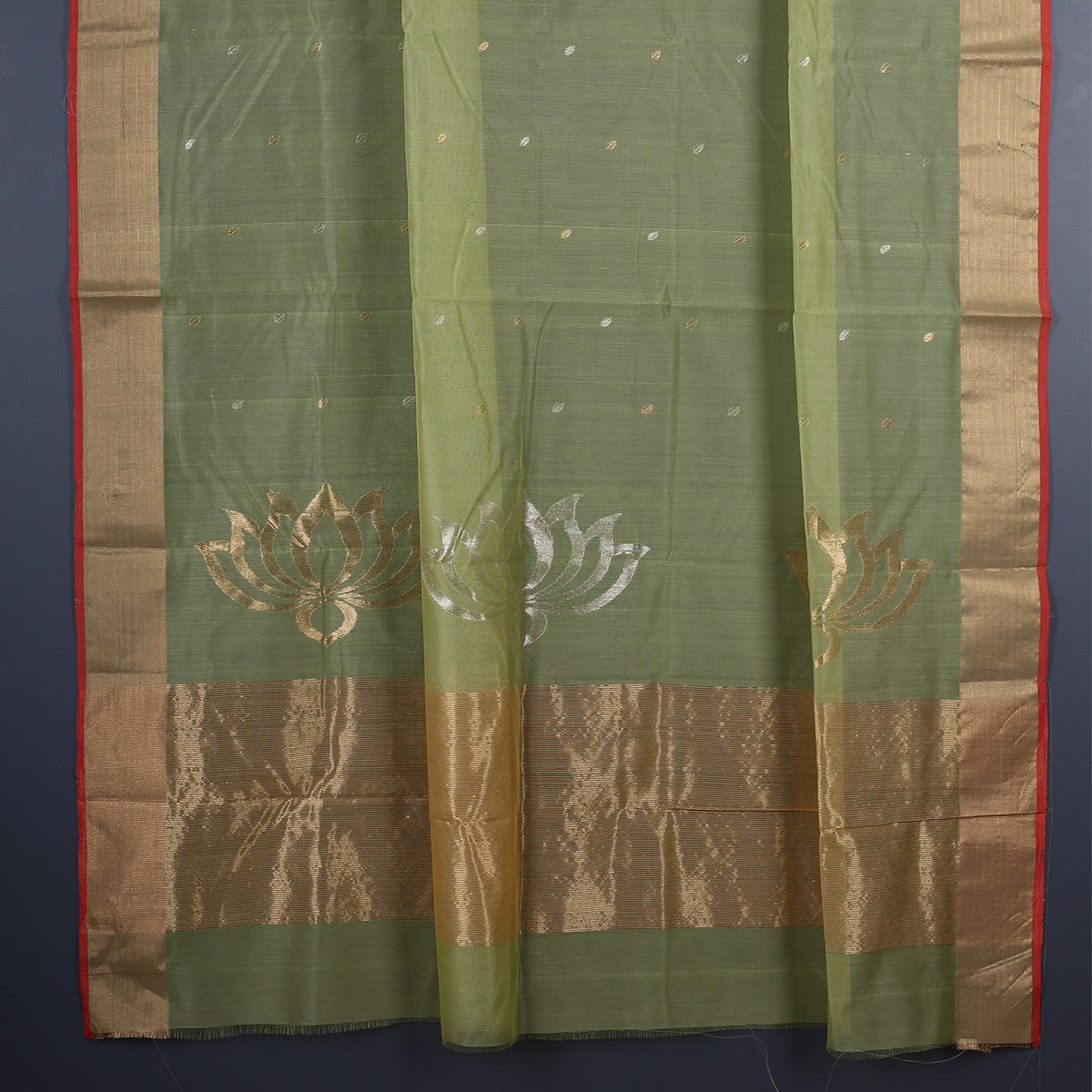 Chanderi Handloom Saree with Blouse in Silk Cotton 31