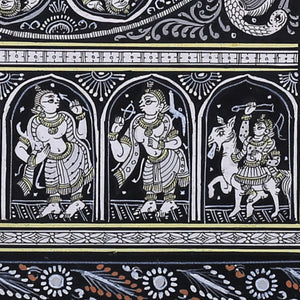 Pattachitra Painting of 'Lord Krishna and Dus Avatar' by Narayan Das