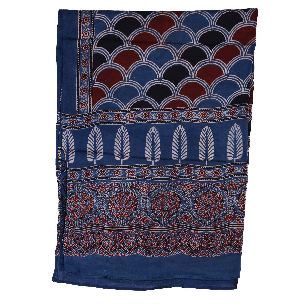 Ajrakh Natural Dyed Hand Block Printed Dupatta in Modal 23