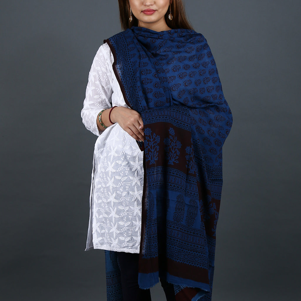 Bagh Hand Block Printed Dupatta in Cotton 2
