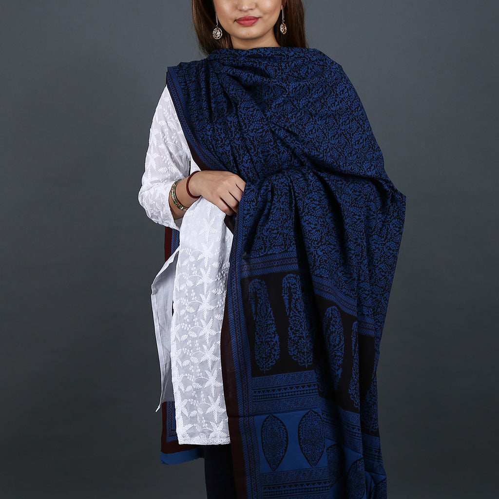 Bagh Hand Block Printed Dupatta in Cotton 3