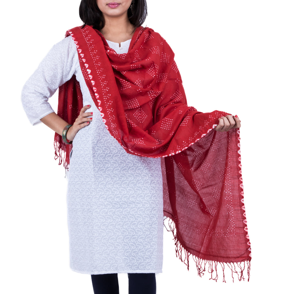 Kutch Tie & Dye Dupatta in Cotton