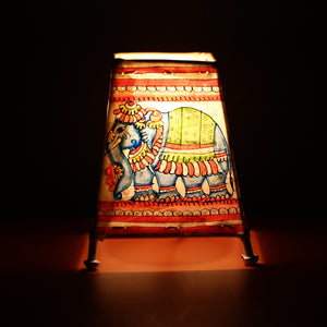 Andhra Pradesh Leather Lamp with Elephant Design 1