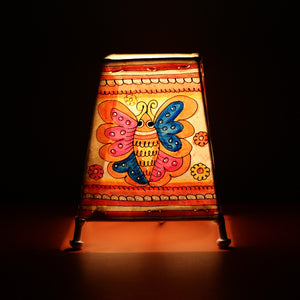 Andhra Pradesh Leather Lamp with Butterfly Design