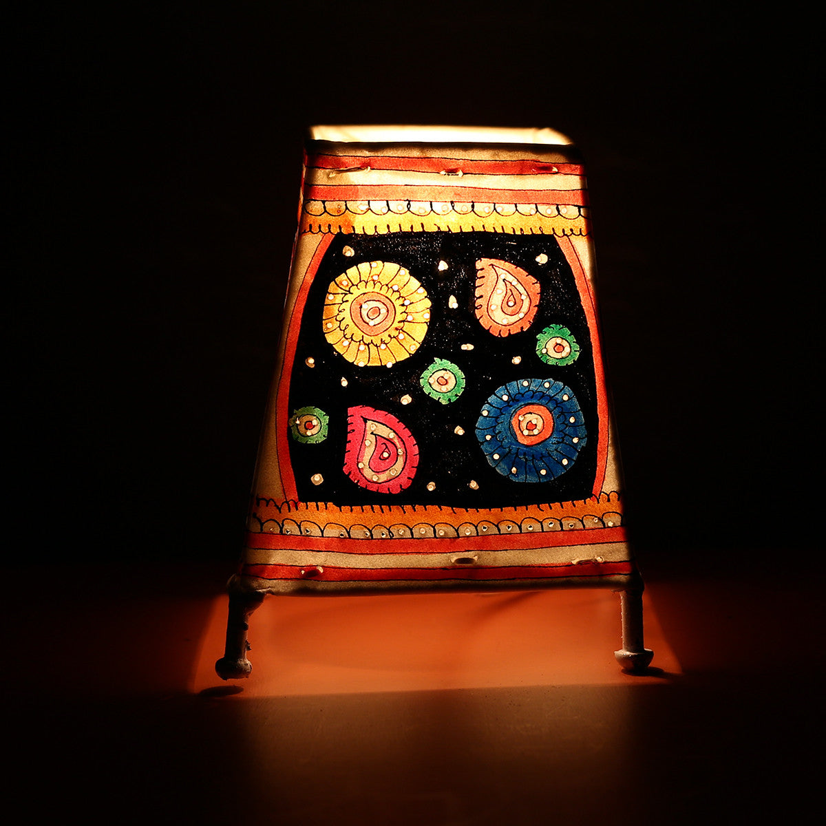 Andhra Pradesh Leather Lamp with Night Sky Design