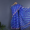 Jaipur Leheriya Tie and Dye Saree in Kota Silk 2